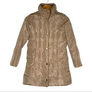 Zara Girls Down Filled Gold Puffer Jacket Size 9/10